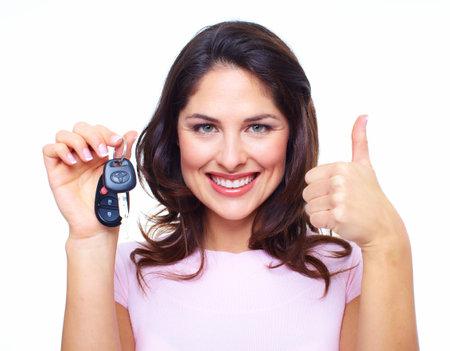 rental: Mujer con las llaves del coche