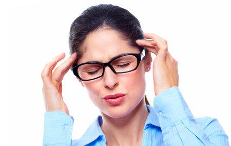 Young woman having headache