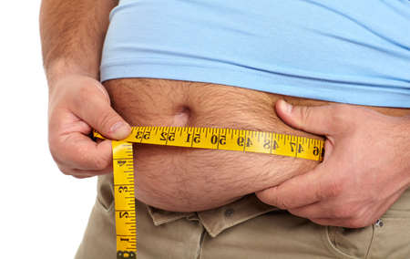 Fat man with a big belly Stock Photo - 18840966