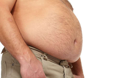 Fat man with a big belly Stock Photo - 18840969