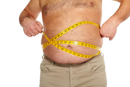 Fat man with a big belly  Stock Photo - 18840968