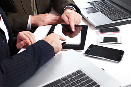 Business people group working with laptop Stock Photo - 18763742