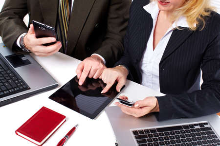 Business people group working with laptop Stock Photo - 18763754