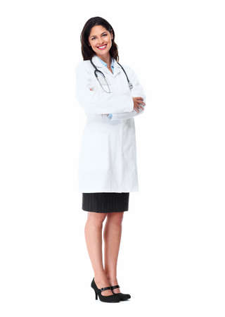 pharmacist: Smiling medical doctor woman with stethoscope