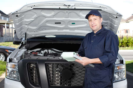 Car mechanic working in auto repair service  Stock Photo - 18763752