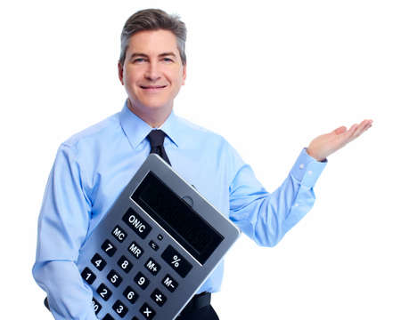 Accountant Businessman with calculator Stock Photo - 18767728