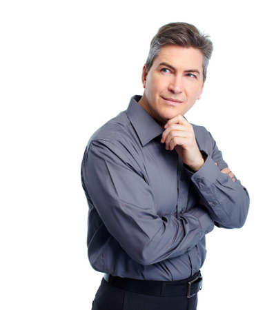 Businessman isolated on white Stock Photo - 18767716