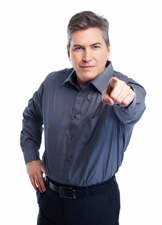 Businessman isolated on white Stock Photo - 18767713