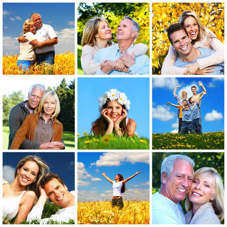 Happy family collage Stock Photo - 19029721