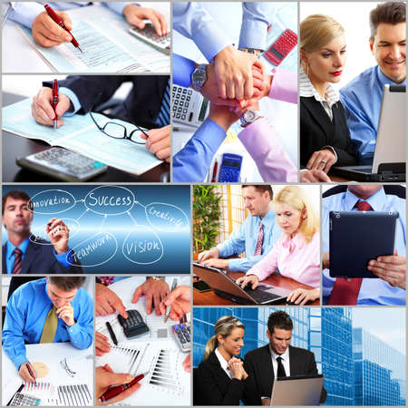 business collage: Business people team collage