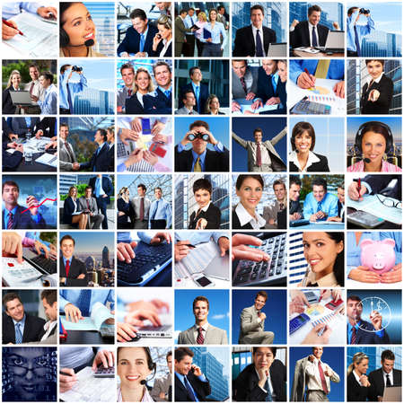 Business people team collage Stock Photo - 19029723