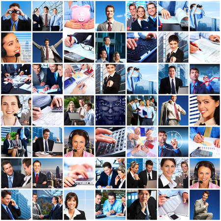 Business people team collage Stock Photo - 23180278