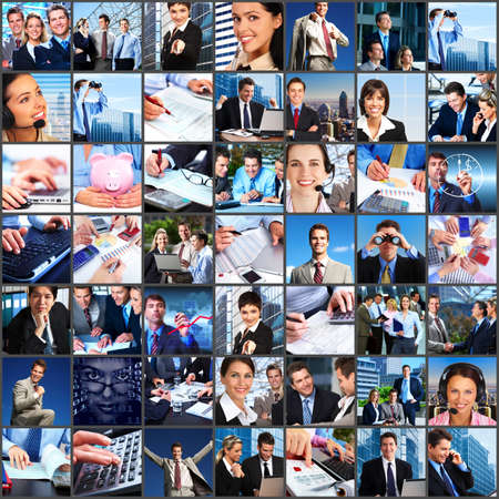 Business people team collage Stock Photo - 23180289