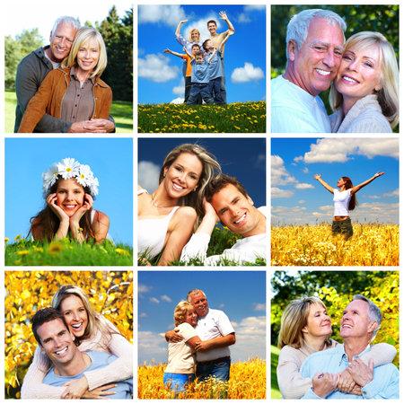 collage caras: Collage familia feliz
