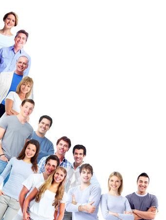 personas saludables: Grupo de hombres y mujeres