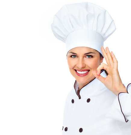 Chef woman  Stock Photo
