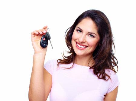 Woman with a car keys  Stock Photo