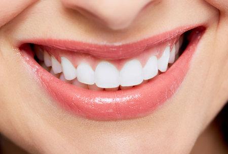 mal di denti: Bella donna sorriso Archivio Fotografico