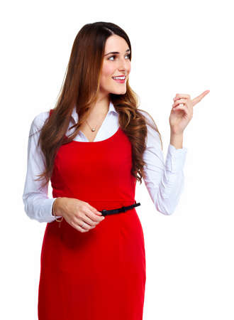 Business woman presenting  Stock Photo