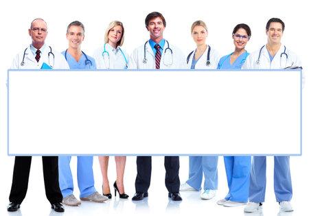 Grupo de médicos con la bandera Foto de archivo - 19124453