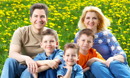 families together: Happy family