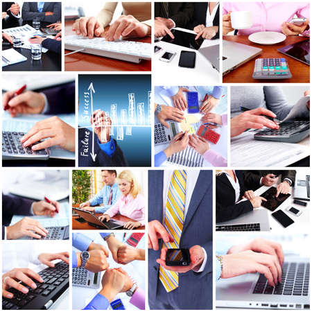 Business people collage background  photo