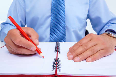 Businessman with a pencil Stock Photo - 19354742