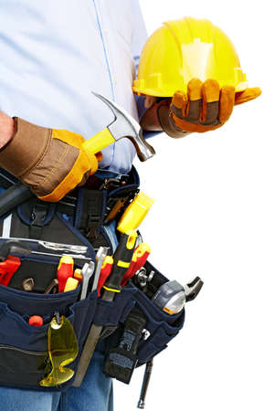 Worker with a tool belt  Construction  Stock Photo - 19354758