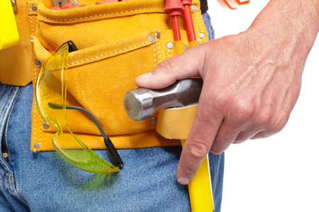 Hand with a Tool belt  Renovation Stock Photo - 19354778