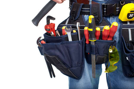 Tool belt  Construction and renovation  Stock Photo - 19354771