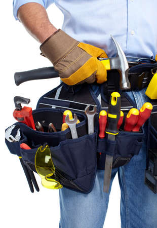 Worker with a tool belt  Stock Photo - 19354776