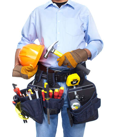 Worker with a tool belt  Stock Photo - 19354754