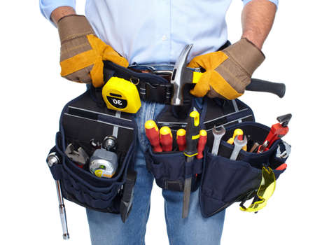Worker with a tool belt  Stock Photo - 19354746