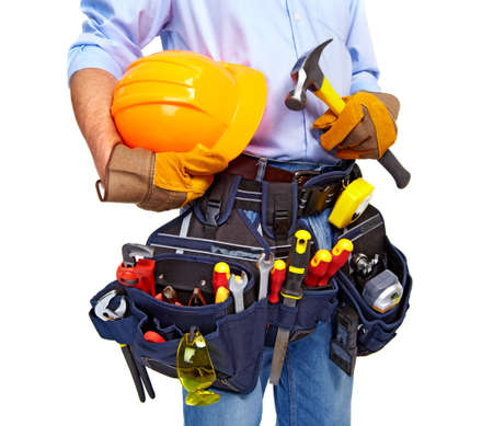 Worker with a tool belt  Construction  Stock Photo - 19354727