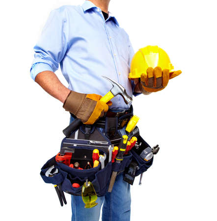 Worker with a tool belt  Construction  Stock Photo - 19354696