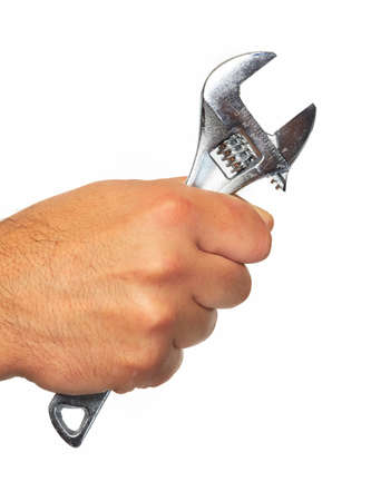 Hand of auto mechanic with wrench  Stock Photo - 19354697