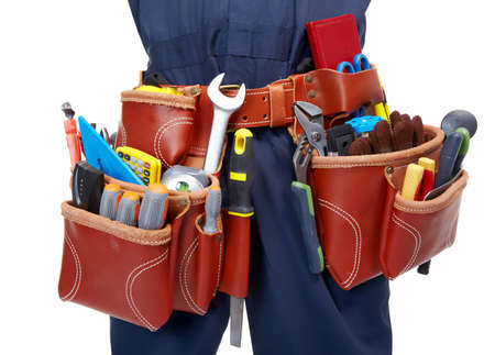 Worker with a tool belt  Stock Photo - 19354736