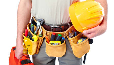 Worker with a tool belt  Stock Photo - 19354756