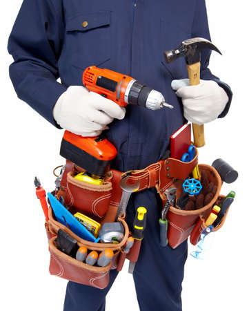 Worker with a tool belt  Stock Photo - 19354744