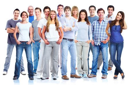 gente exitosa: Grupo de hombres y mujeres