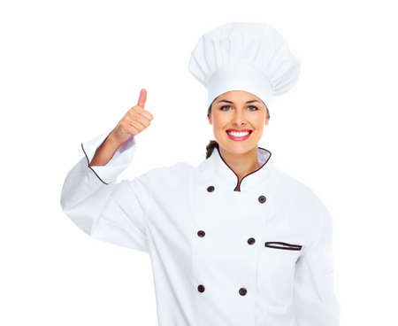 chefs: Chef woman  Stock Photo