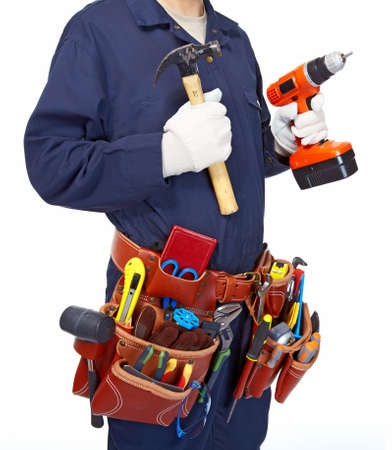 toolbelt: Worker with a tool belt