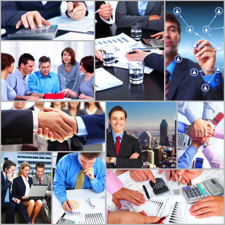 collage people: Business people team collage