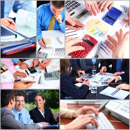 finance director: Business people team collage