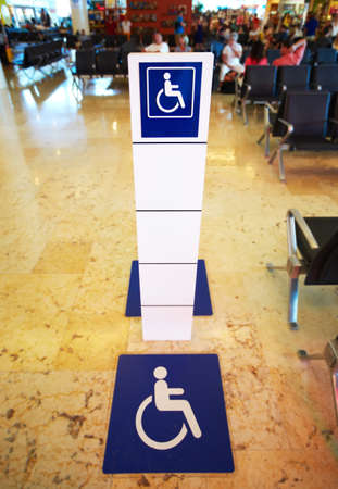 Place for persons with disabilities  Stock Photo - 20072783