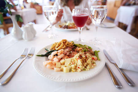 Seafood plate  Stock Photo - 20072888