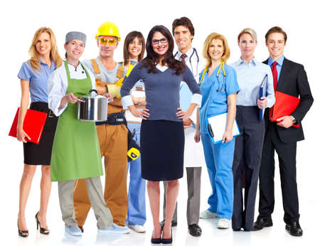 white work: Group of workers  Stock Photo