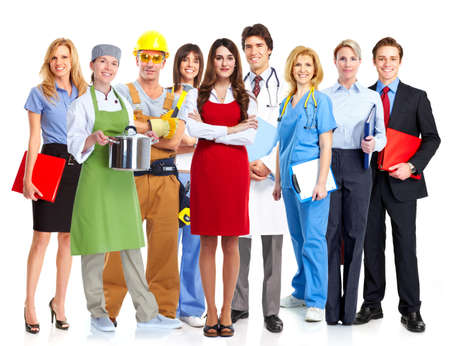 Group of workers Stock Photo - 20340617