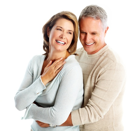Gelukkig hoger paar in liefde Stockfoto