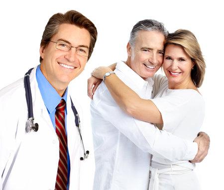 Doctor y pareja de ancianos Foto de archivo - 21411291